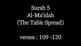 Conversation Between Jesus And Allah | Surah Al-Ma