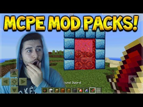 OFFICIAL MOD PACKS FOR MCPE - NEW ORES, ARMOR, TOOLS & MORE! (FREE DOWNLOAD)