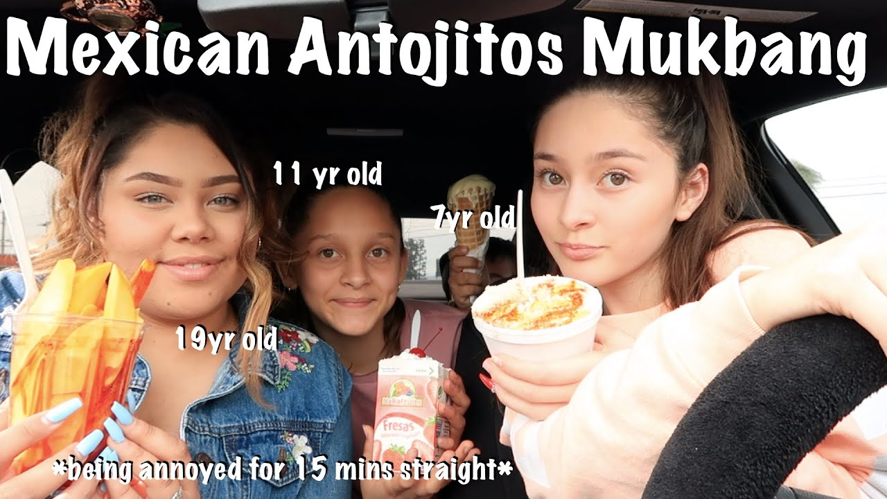 Mukbang with my siblings + Drive with me (Mexican Antojitos)