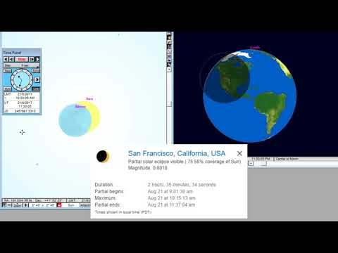 San Francisco  - Animation of the Total Solar Eclipse August 21, 2017