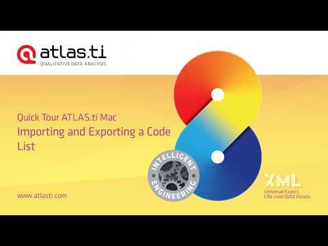 ATLAS ti Mac-Export Import Code List