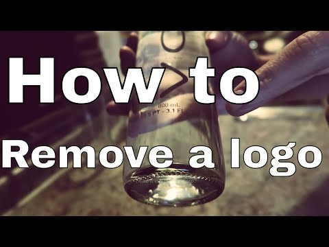 Remove the logo from a glass bottle D.I.Y voss