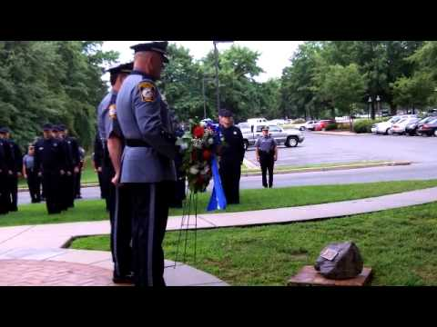 Wreath Laying Ceremony honoring fallen Henrico Police Officer John Haynes Yarbrough