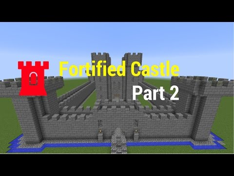 How to Build a Fortified Castle (Part 2, reupload)//Minecraft