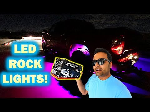 How to Install Amazing LED Rock Lights On a TRUCK!! (TUNDRA)