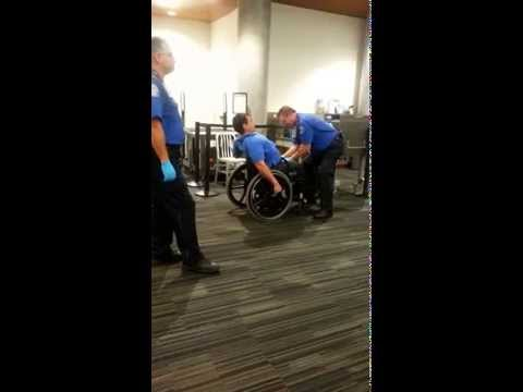 Man In Wheelchair Gets Extra Personal Rub Down By TSA