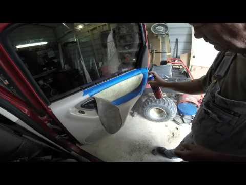 Repairing door panel cloth