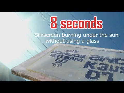 How to burn a screen under the sun without using a glass PART II