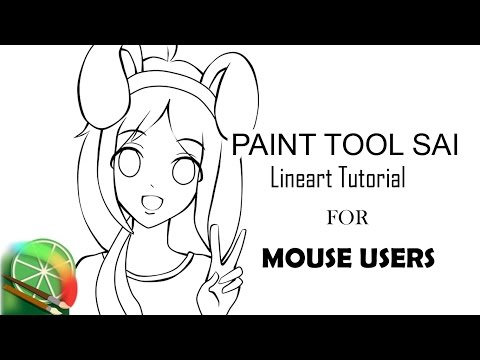 [SAI] Drawing with a Mouse - Lineart Tutorial
