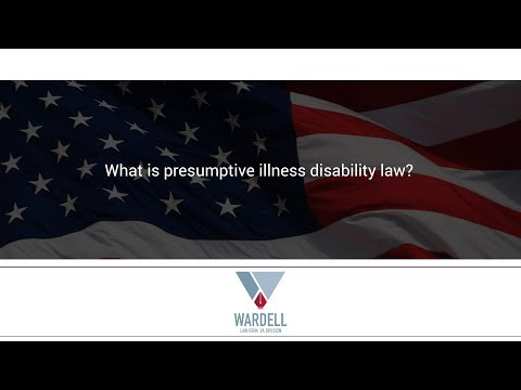 What is presumptive illness disability law?