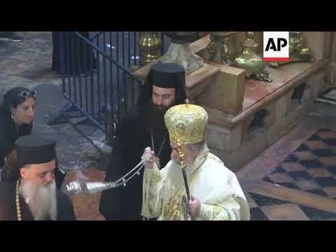 Greek Orthodox faithful celebrate Easter Sunday in Jerusalem