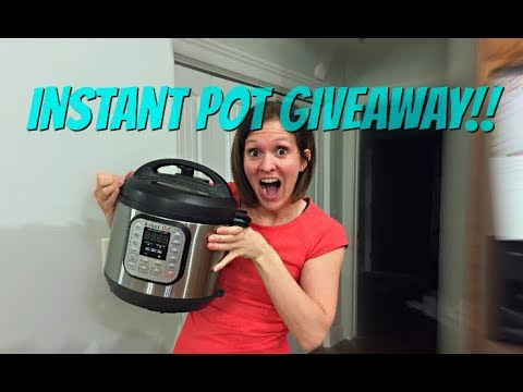 **GIVEAWAY IS OVER** Instant Pot GIVEAWAY!! Win a FREE Instant Pot!