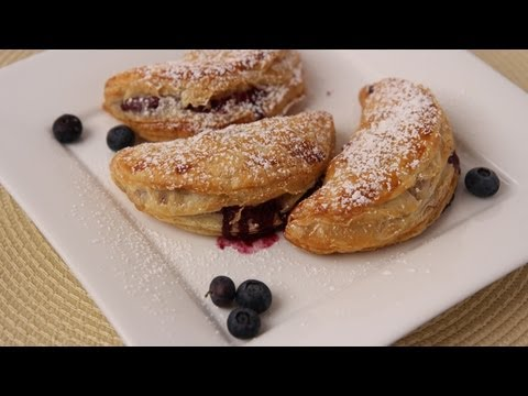 Homemade Blueberry Turnovers Recipe - Laura Vitale - Laura in the Kitchen Episode 419