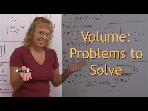 Volume: problems to solve (5th -6th grade math)