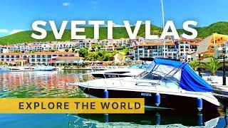 🇧🇬 Walking in SVETI VLAS - Sunny Beach rival, Bulgaria - 4K Ultra HD 60fps