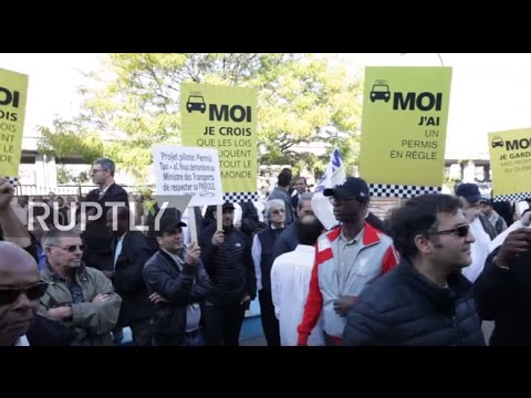 Canada: Montreal taxi drivers rally against Uber