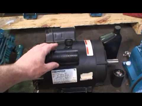 Jenny Compressor Video P Electric Motor Start Cap R&R.avi