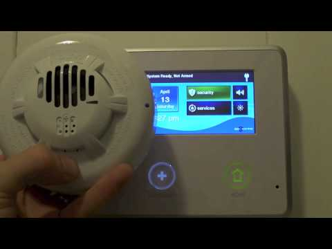 2GIG Go Control Panel Alarm Unlock and Pairing A Light Switch and C02 Detector