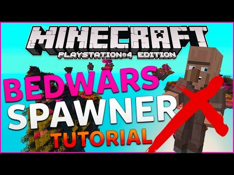 BEDWARS MINECRAFT PS4 ITA | BEDWARS SPAWNER TUTORIAL | NO VILLAGER MODS ( PS3 / PS4 / XBOX )