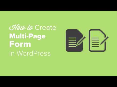 How to Create a Multi Page Form in WordPress