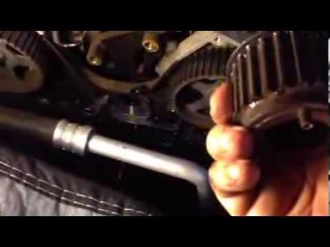 Hyundai 2.5 2.7 timing belt water pump repair tips NOT FULL REPAIR