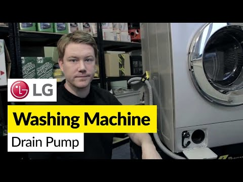 How to replace the pump on an LG washing machine