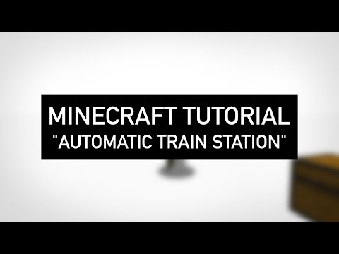 AUTOMATIC TRAIN STATION! (Minecraft: Tutorial)
