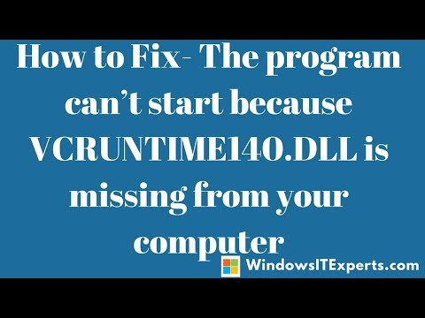 [Finally Fixed]vcruntime140 dll | vcruntime140 dll missing | vcruntime140 dll is missing