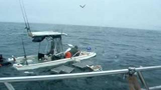 Sinking CA fishing boat 7/29/07
