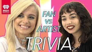 Bebe Rexha Challenges Super Fan In Trivia Battle | Fan Vs. Artist Trivia