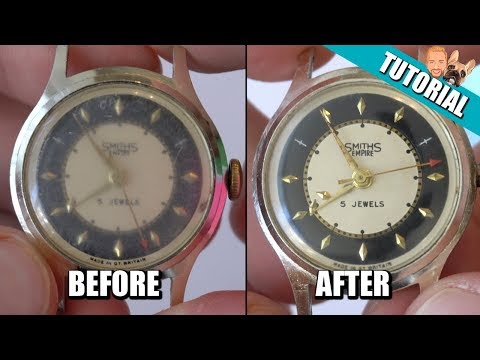 EASY & CHEAP - How to Remove, Polish and Buff Out Scratches From Acrylic Watch Crystal