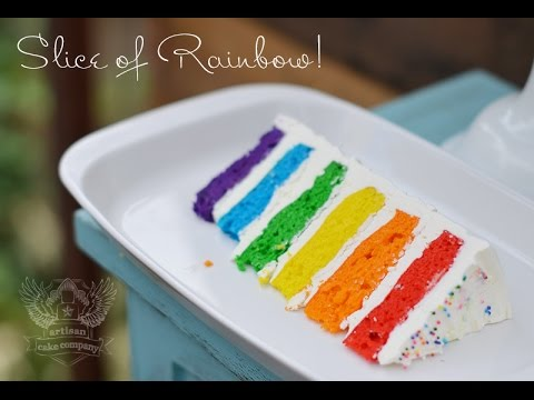 How to make a Rainbow Cake Tutorial