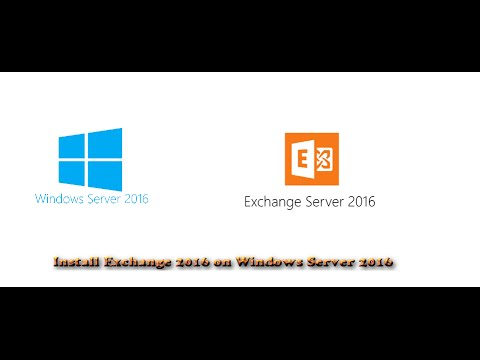 Install Exchange 2016 on Windows Server 2016 from scratch