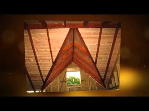 Wood Exterior Log Sidings and Log Accents and 2x6 Ceiling De