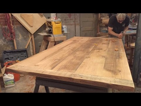 Reclaimed Wood Trestle Table Build, Part 4