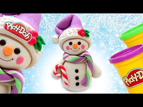 How to make Cute Snowman. Snowman Frozen. Play Doh Clay Creations