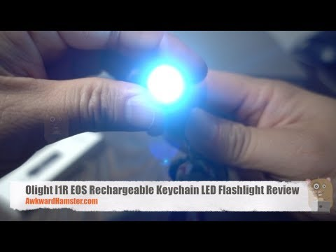 Olight I1R EOS Rechargeable Keychain LED Flashlight Review