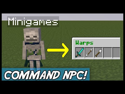 Minecraft | CommandNPC (Hook commands to NPC's!) MINEPLEX! | Plugin Tutorial