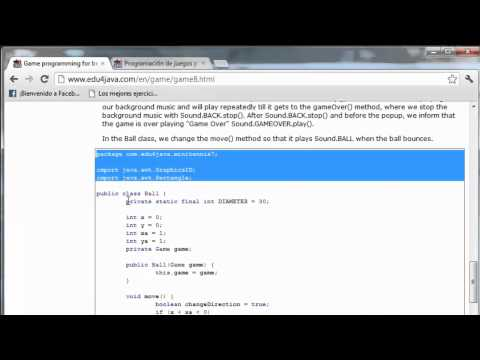 Creating a Sound class for our game. Java Game Programming for Beginners 8