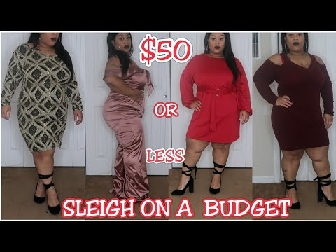 BBW/PLUS SIZE | SLEIGH ON A BUDGET FOR THE HOLIDAYS  | FASHIONNOVA CURVE TRY ON HAUL