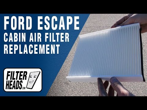 How to Replace Cabin Air Filter 2017 Ford Escape