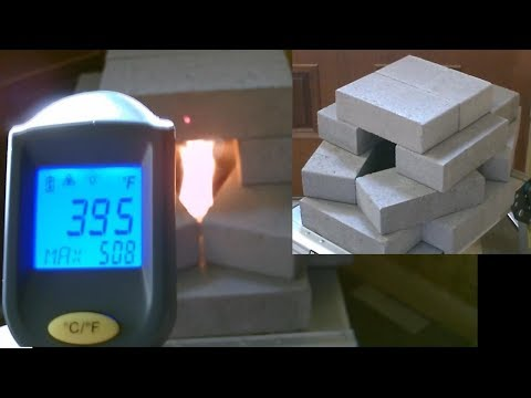 DIY Air Heater! - Brick-Pile Radiant Space Heater! - Survival/SHTF Heater - 400F - uses NO electr.