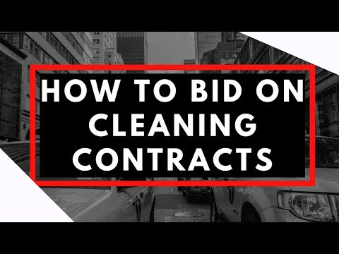 How To Bid Janitorial Contracts