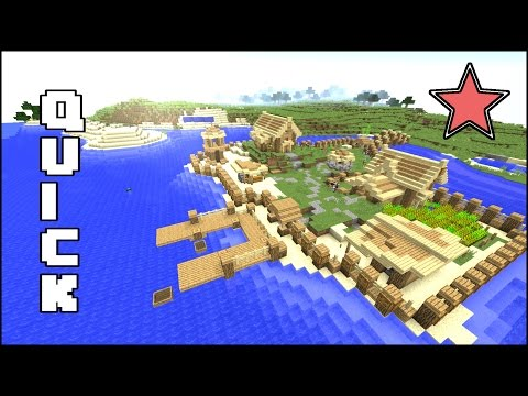 Minecraft Quick starter survival village Tutorial