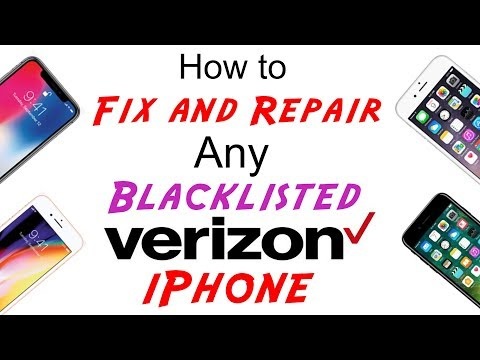Fix/Repair Verizon Blacklisted IMEI Cleaning for Any iPhone X/8/8+/7/7+/6s/6s+/6/SE/5s/5c/5