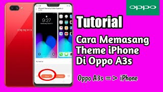 Oppo a3s IOS THEME PERMANENT(DOTTED SIGNAL + FINGER PRINT