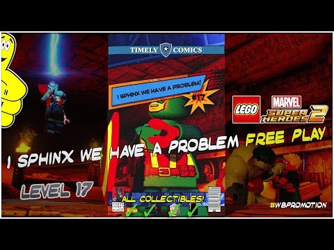 Lego Marvel Superheroes 2: Level 17 / I Sphinx We Have A Problem FREE PLAY (All Collectibles) - HTG