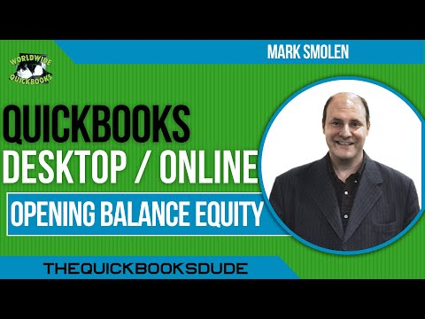 What is Opening Balance Equity?