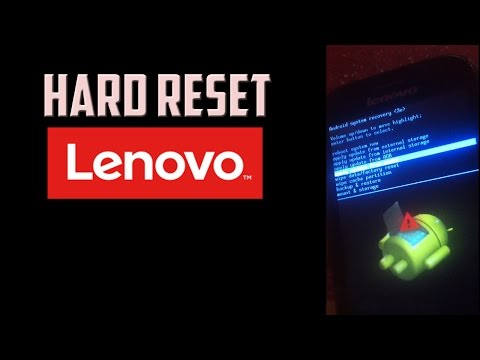 How to Hard Reset LENOVO Android phone (Password/Pattern unlock/Factory Reset)