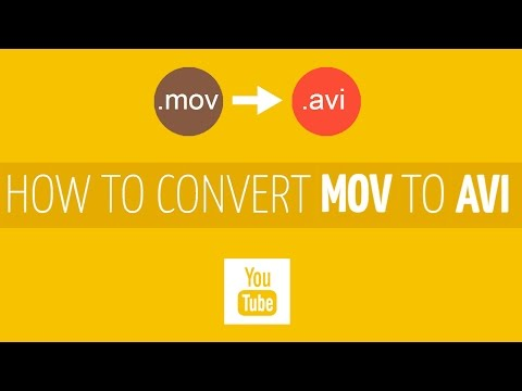How to Convert MOV to AVI?